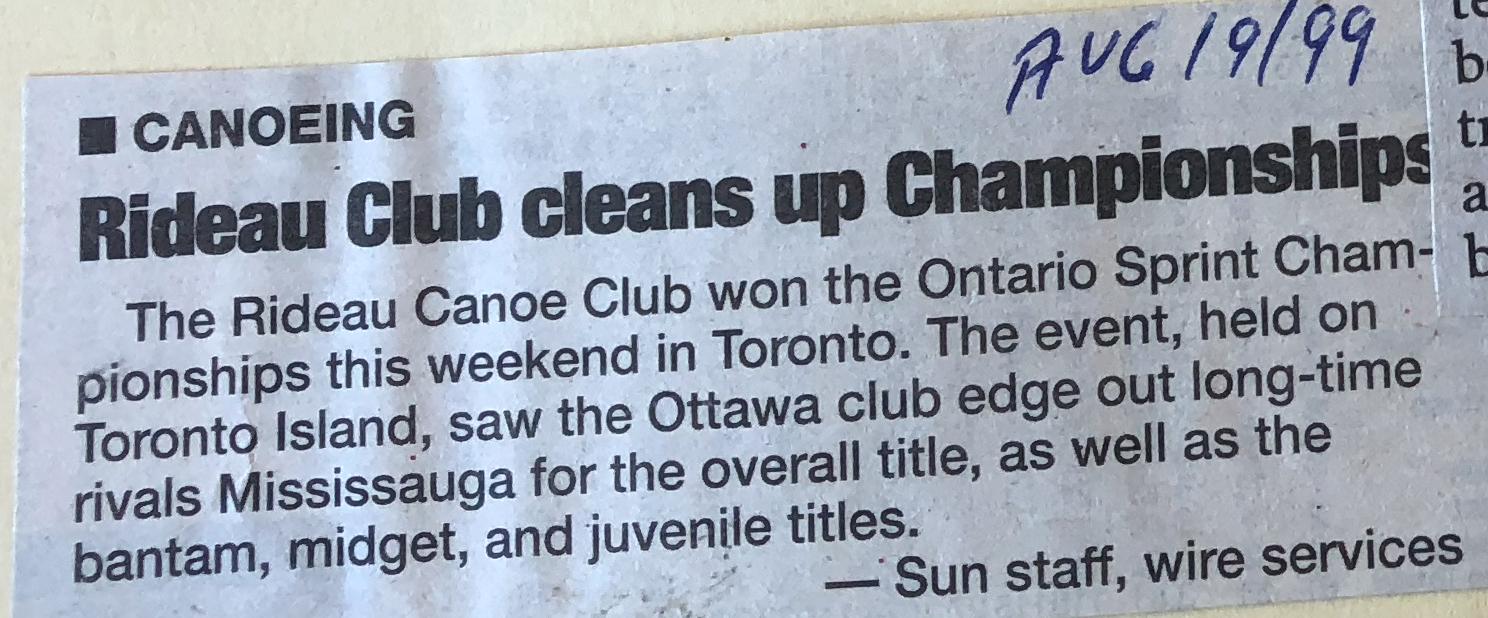 Canada's Sprint Canoe Clubs